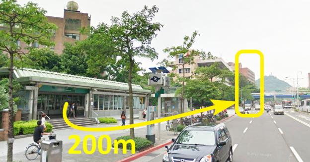 捷運公館站,二號出口,左轉直走 200 公尺,黃框建築物地下一樓。